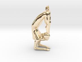 yoga jewelry - Vrischikasana in 14k Gold Plated Brass