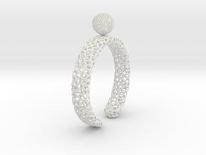 voronoi spinning ball ring (2) in White Natural Versatile Plastic