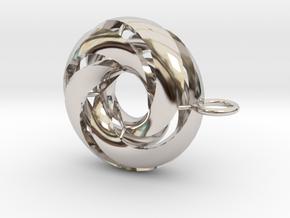 marine in Rhodium Plated Brass: Medium