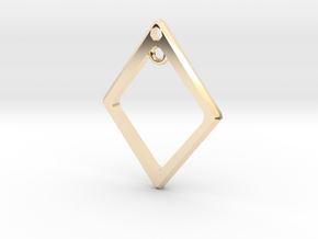 Diamond Charm Frame in 14k Gold Plated Brass