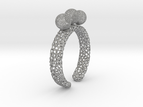 voronoi fidget ring. Size 7 18.92 mm with three sp in Aluminum