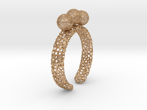 Voronoi fidget ring. Size 5 17.58 mm with three sp in Natural Bronze