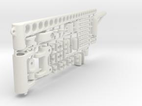 """MicroMagic RIG SET """"5 mm mast"""" in White Natural Versatile Plastic"""