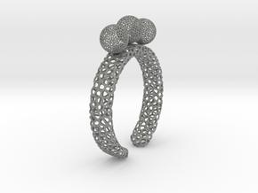 voronoi fidget ring. Size 10. Balls spin. in Gray PA12