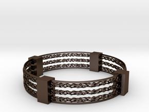 Voronoi spinner bracelet in Polished Bronze Steel