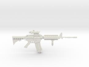 1:12 Miniature Colt M4A1 Carbine Gun in White Natural Versatile Plastic: 1:12