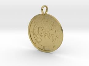 Amdusias Medallion in Natural Brass