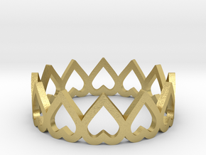 hearth crown ring size 5.5 in Natural Brass