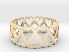 heart symmetric ring size 6.5 in 14K Yellow Gold