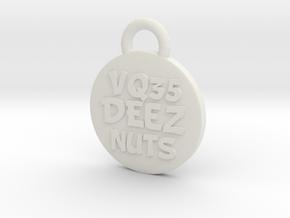 VQ35DEEZNUTS badge keychain in White Natural Versatile Plastic