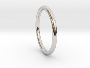 wire ring size 8.5 in Rhodium Plated Brass