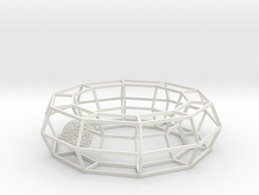 cage ring frame with voronoi ball size 10 in White Natural Versatile Plastic