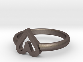 ring hearth size 6.5 in Polished Bronzed-Silver Steel