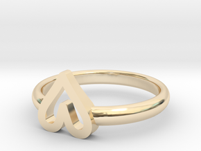 ring hearth size 7 in 14k Gold Plated Brass