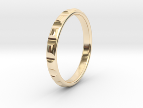 ring gear size 6 in 14k Gold Plated Brass