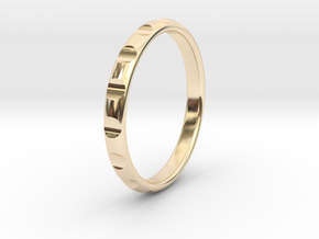 ring gear size 7.5 in 14k Gold Plated Brass