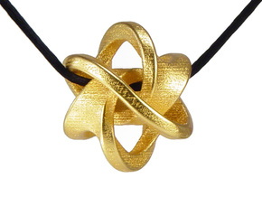 Soliton Pendant in Polished Gold Steel: Large