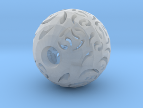Hollow Sphere 2 in Smooth Fine Detail Plastic
