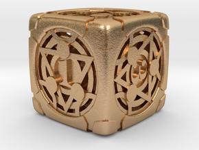 Alchemical D6 in Natural Bronze