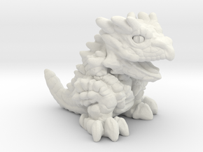 """Chompy the Dragon Hatchling (1"""") in White Natural Versatile Plastic"""