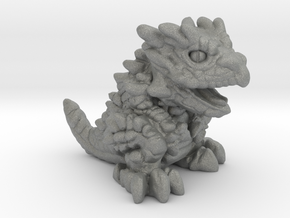 """Chompy the Dragon Hatchling (1"""") in Gray PA12"""