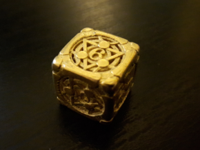 Alchemical D6 in Polished Gold Steel