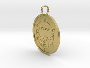 Belial Medallion in Natural Brass