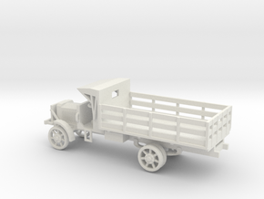 1/87 Scale Liberty Truck Cargo with Cab Cover in White Natural Versatile Plastic