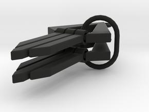 Geometric Earrings - Modern Dangle Earrings in Black Natural Versatile Plastic