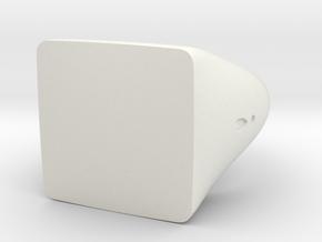 Square Signet Ring in White Natural Versatile Plastic: 5.5 / 50.25