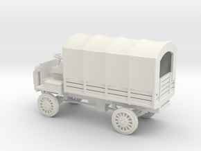 1/72 Scale FWD B 3-Ton 1917 US Army Truck with Cov in White Natural Versatile Plastic