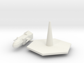 Destroyer Earth Type with base in White Natural Versatile Plastic
