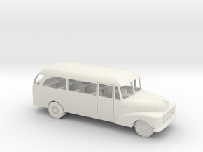 1/72 Scale Ford 1955 Bus in White Natural Versatile Plastic