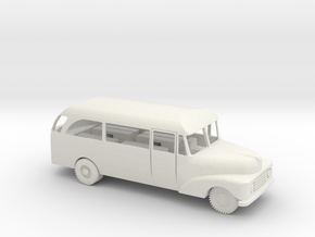 1/72 Scale Ford 1955  MASH Bus in White Natural Versatile Plastic