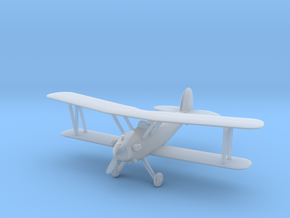 Biplane - 1:144scale in Smooth Fine Detail Plastic