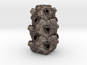 Tesq 35 in Polished Bronzed-Silver Steel