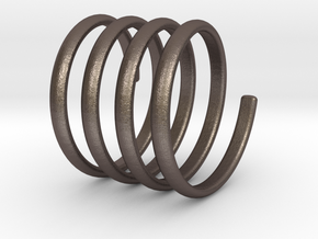 spring coil ring size 5.5 in Polished Bronzed-Silver Steel