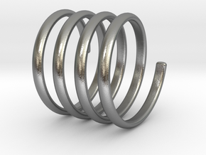 spring coil ring size 5.5 in Natural Silver
