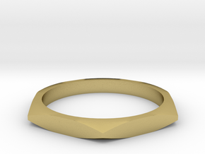 nut ring size 5 in Natural Brass