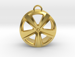 Cast drive in Polished Brass