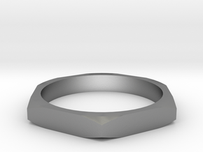 nut ring size 15 in Natural Silver