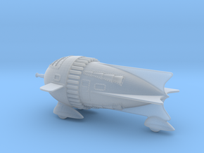 Retro Rocket W Nose Cannon  Small in Smooth Fine Detail Plastic