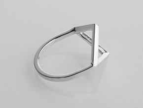 Ring - Portl in Fine Detail Polished Silver: 6 / 51.5