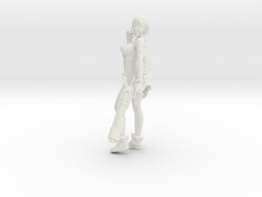 1/20 Sci-Fi Girl Anzu (White Plastic Version) in White Natural Versatile Plastic