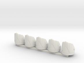 5 x British Grenadier in White Premium Versatile Plastic
