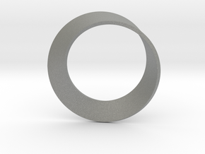 0154 Mobius strip (p=1, d=10cm) #002 in Gray Professional Plastic