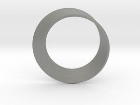 0154 Mobius strip (p=1, d=10cm) #002 in Gray Professional Plastic