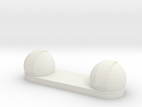 Keck Observatory 1:1000 scale model in White Natural Versatile Plastic