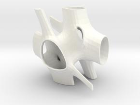 Vorospace Sculpture -Version 3 in White Processed Versatile Plastic