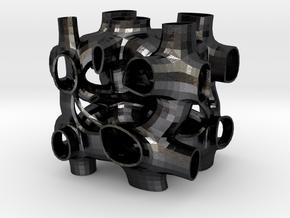 Vorospace Sculpture 6 in Polished and Bronzed Black Steel